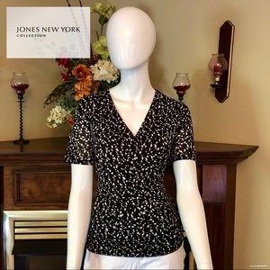 EUC - Jones New York -. Black/white blouse - large